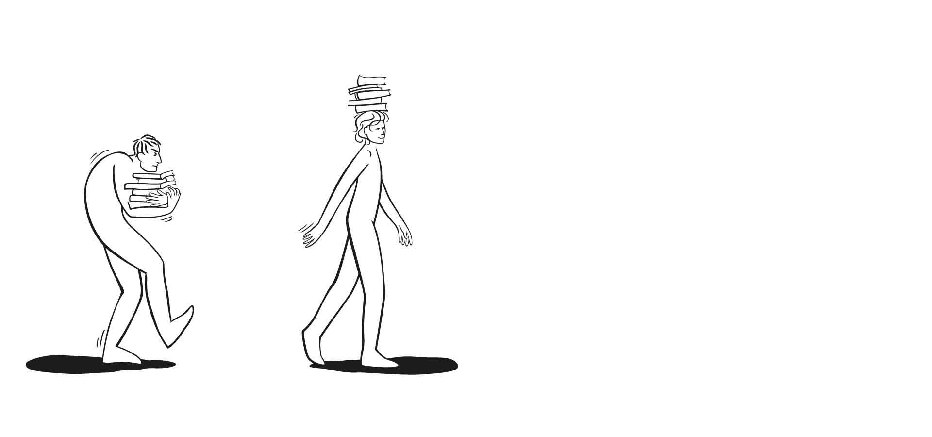 illustratie Alexandertechniek door Simone van der Most